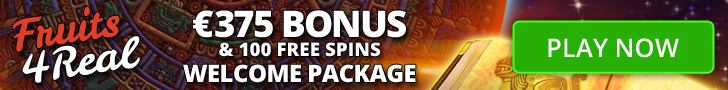 fruits4real casino €375 bonus & 100 free spins welcome package